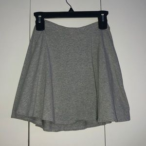 plain grey skirt